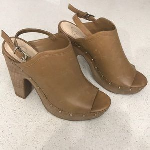 Jessica Simpson Wooden Wedge Platforms